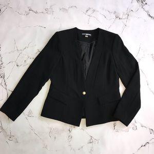 Karl Lagerfeld Paris Black Blazer Pearl Button